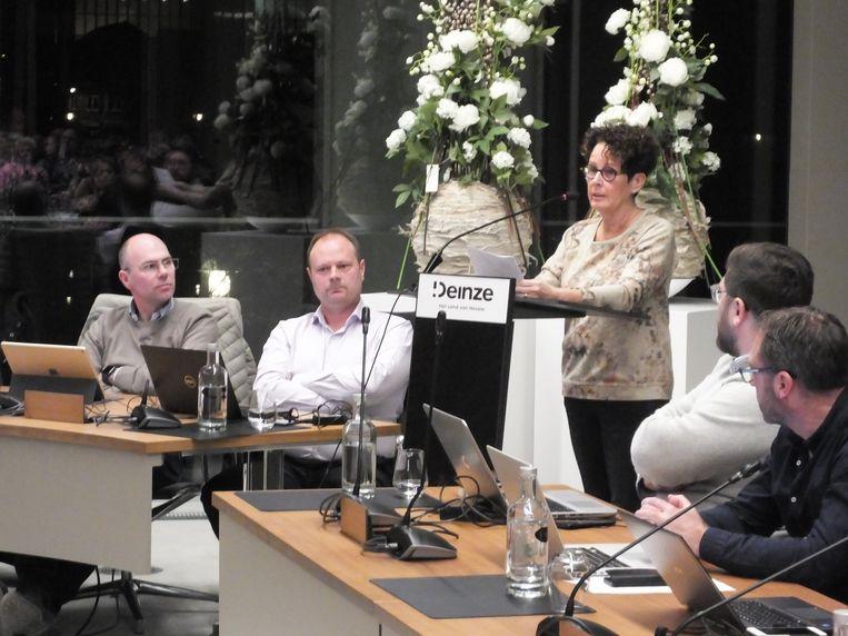 Kattenasieldame Patricia Rotsaert mocht haar zeg doen tijdens de gemeenteraad.