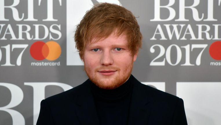 Ed Sheeran bij de Brit Awards, 22 februari 2017. Beeld epa