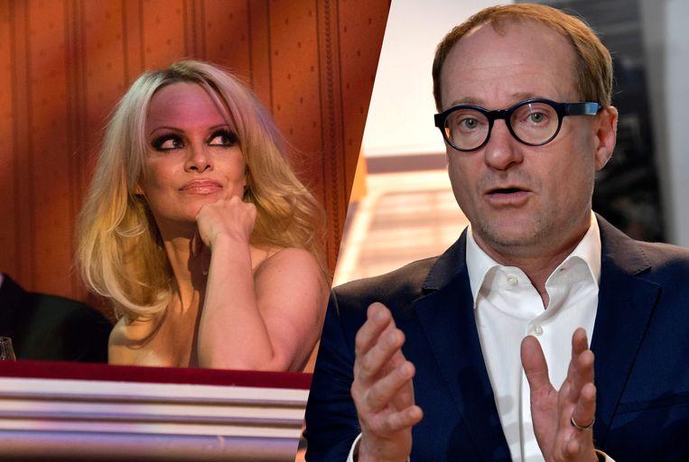 Pamela Anderson prijst minister Weyts in een brief.
