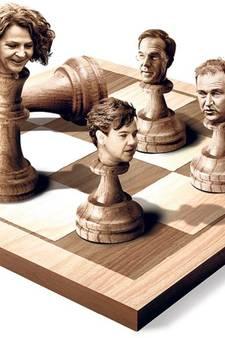Het schaakspel gaat beginnen