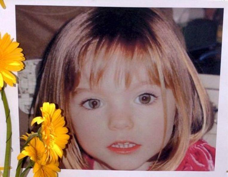Maddie McCann zoals zij er 2,5 jaar geleden bij haar verdrwijning uit zag. Foto ANP Beeld