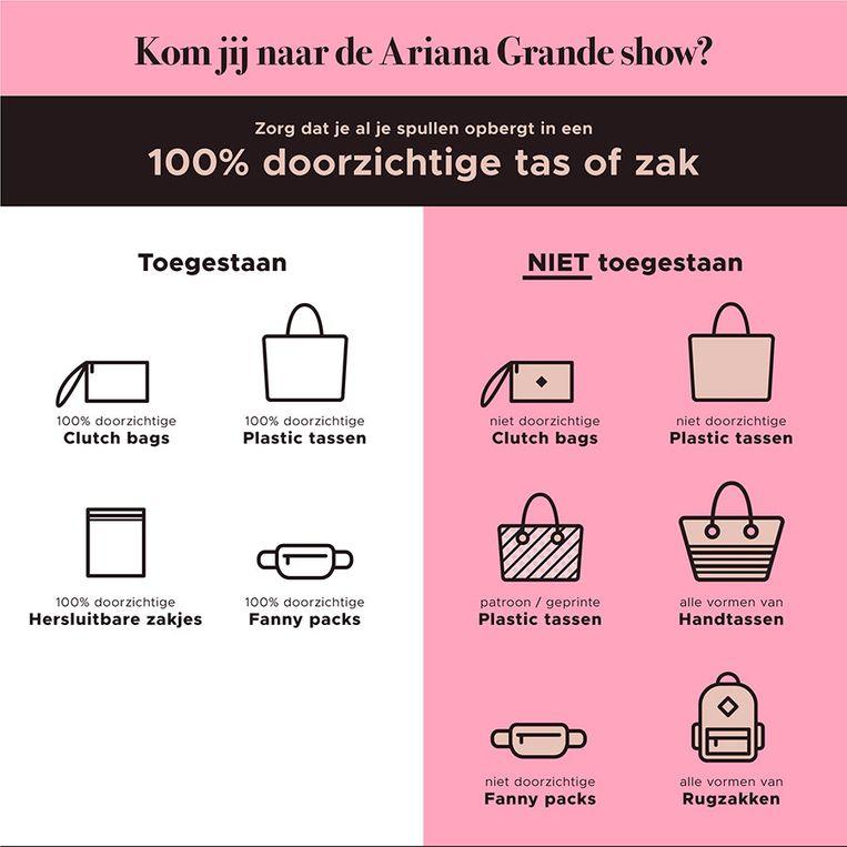 Ariana Grande bag policy