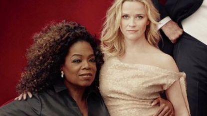 Photoshopblunders Vanity Fair: Oprah drie handen en Reese Witherspoon drie benen