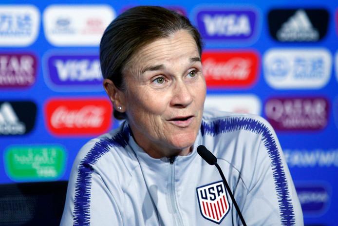 De Amerikaanse bondscoach Jill Ellis.