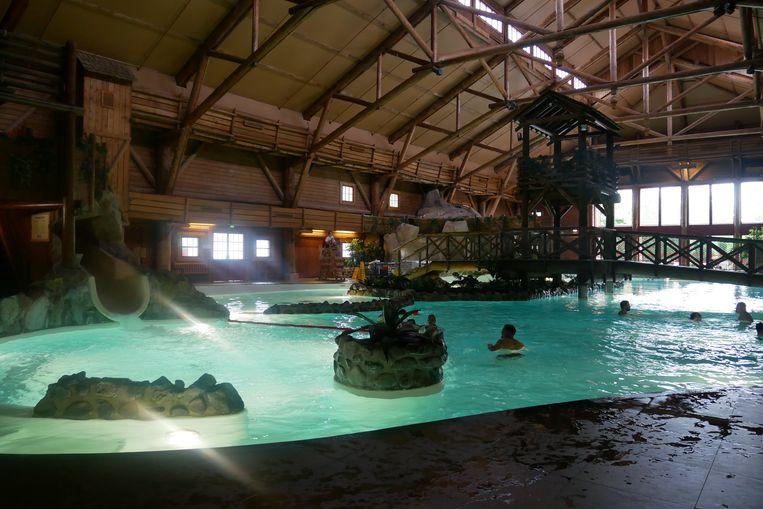 Het heerlijke zwembad van de Davy Crockett Ranch