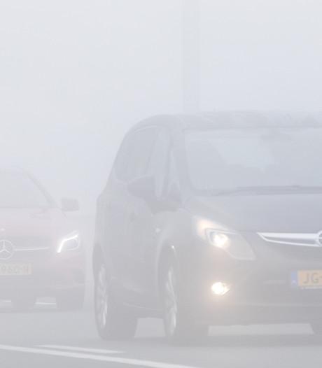 Waarschuwing: dichte mist in  de regio