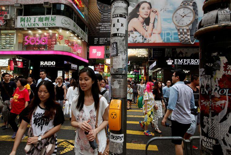 Shoppers in Causeway Bay in Hongkong.