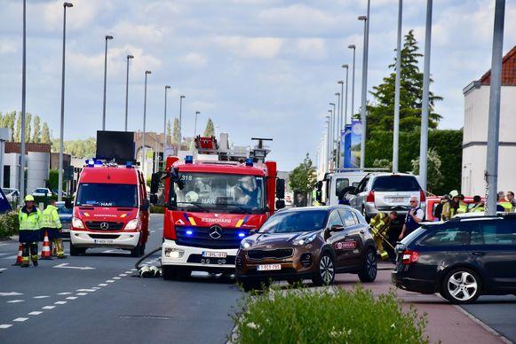 Tijdens de interventie was de Kortrijksesteenweg plaatselijk een tijdlang afgesloten.