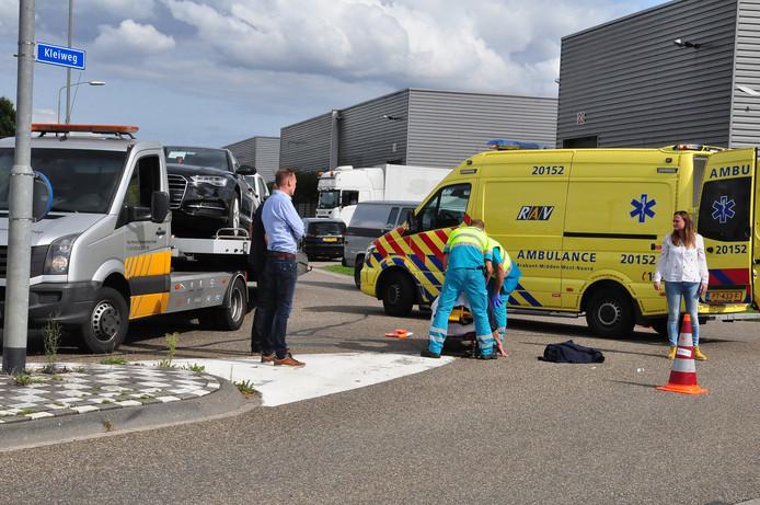 Ongeluk op Kleiweg in Waalwijk.