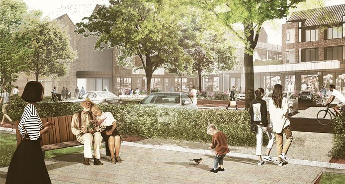 De achterzijde van de vernieuwde Vijfhoek aan de zijde van de Vestingstraat.