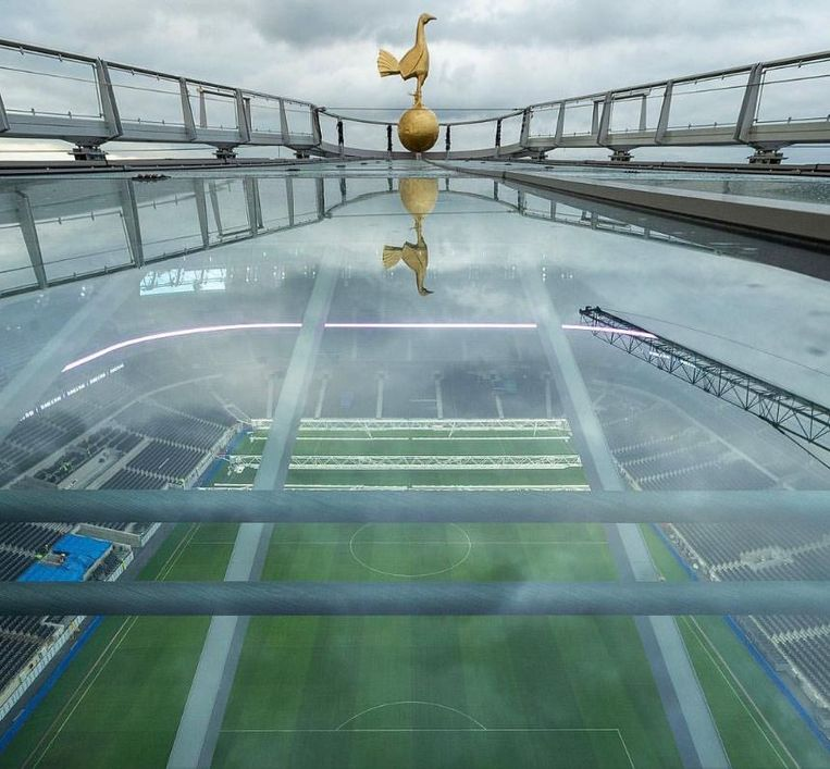 Een 'sky walk' moet een van de vele troeven van het nieuwe stadion worden.