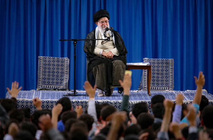 L'Ayatollah Ali Khamenei.