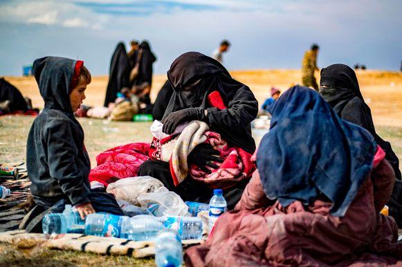 Beeld ter illustratie, vrouwen en kinderen in Syrisch vluchtelingenkamp.