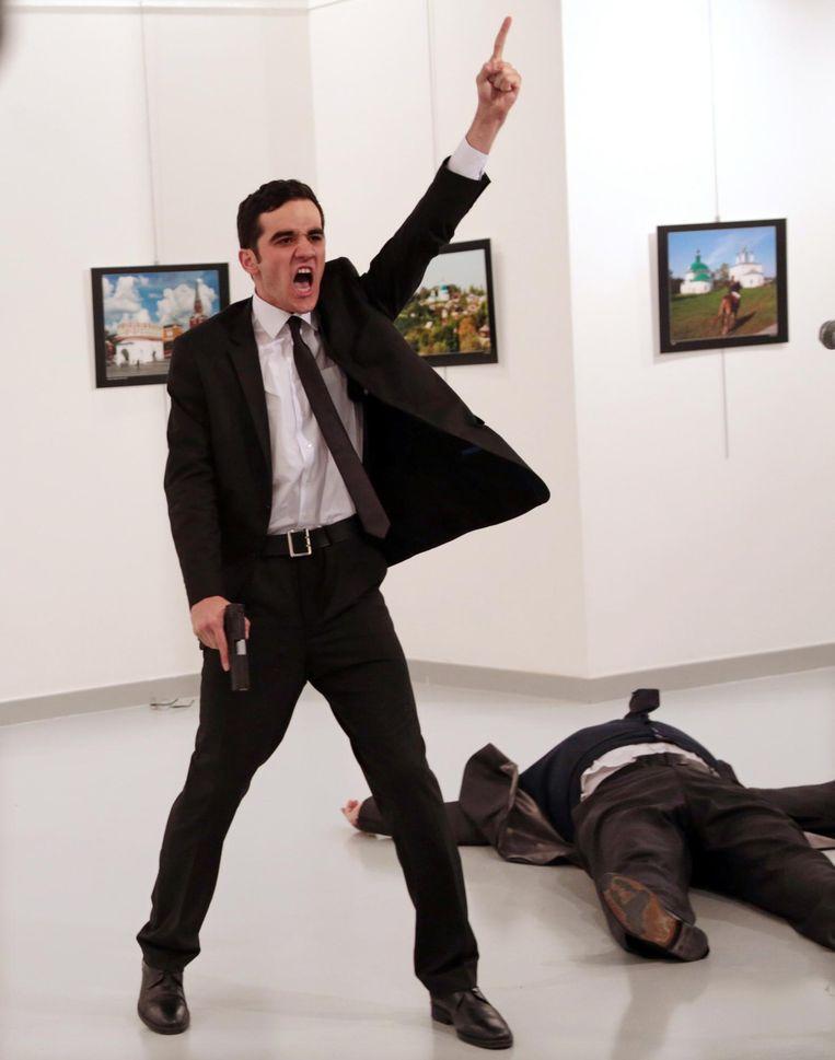 Het moment vlak na de aanslag Beeld Burhan Ozbilici / AP