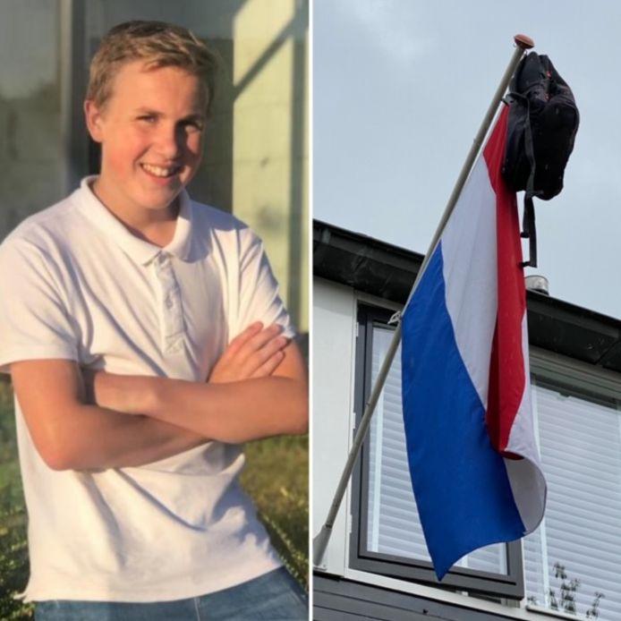 Geert van Lieburg (15) behaalde vandaag zijn mavo-diploma aan Sprengeloo in Apeldoorn. Na de zomer gaat hij bij Aventus verder.