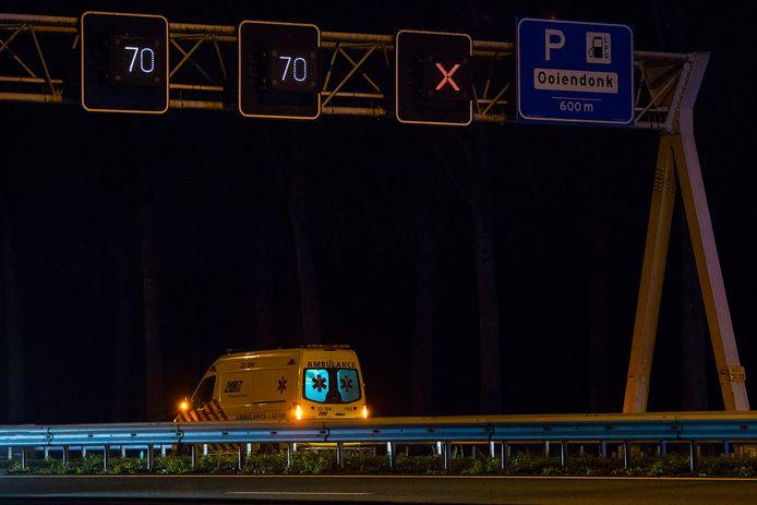 Ongeval op de A2 bij Liempde