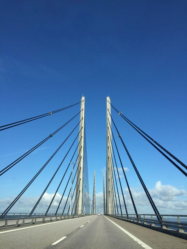De brug die Malmo en Kopenhagen verbindt, bekend van, jawel, The Bridge  Beeld