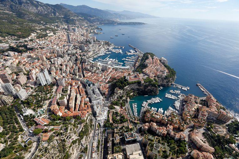 Monaco vanuit de lucht. Beeld AFP