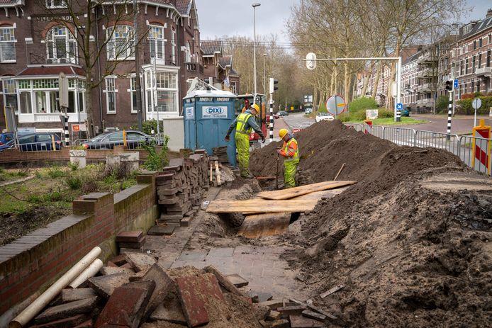 De werkzaamheden aan de Apeldoornseweg zijn al begonnen.
