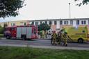 Hulpdiensten aan de Monseigneur Bekkerslaan in Doesburg.