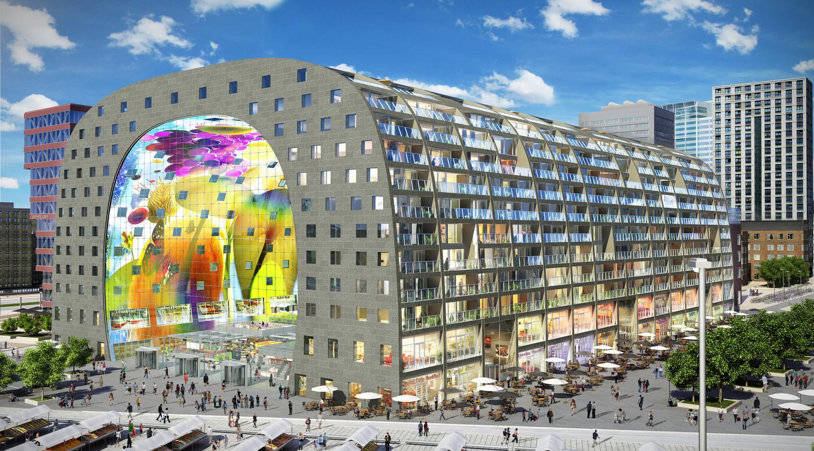 Artist Impression van de Rotterdamse Markthal