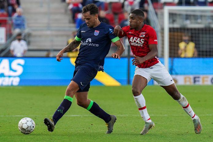 19-09-2020: Voetbal: AZ v PEC Zwolle: Alkmaar Sam Kersten of PEC Zwolle, Myron Boadu of AZ