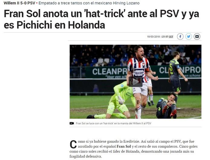 Fran Sol blijft niet onopgemerkt in Spanje.