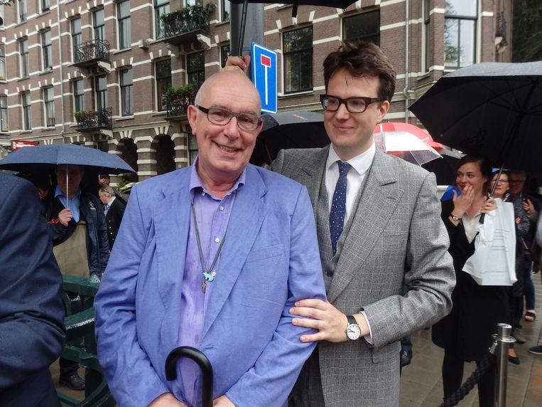 Hans van der Woude, weduwnaar van Friso Wiegersma: