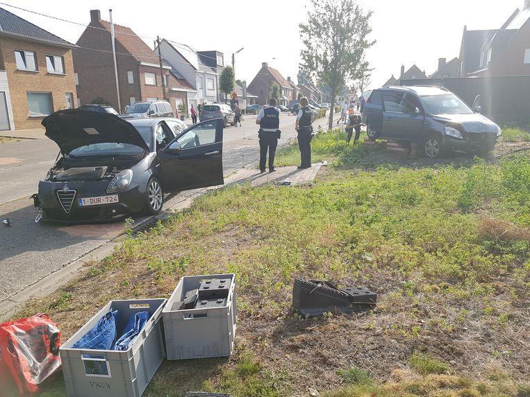 Door het ongeval bleef de Ichtegemstraat de hele tijd afgesloten.