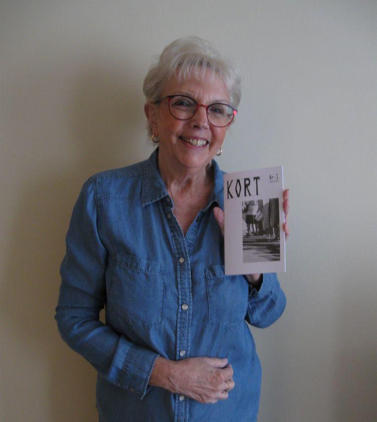 Monika Macken met haar nieuwe tijdschrift KORT.