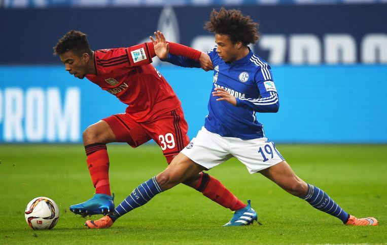 Leroy Sané als speler van Schalke 04. Beeld null
