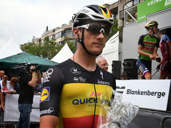 Yves Lampaert als Belgisch Kampioen in de BinckBank Tour.