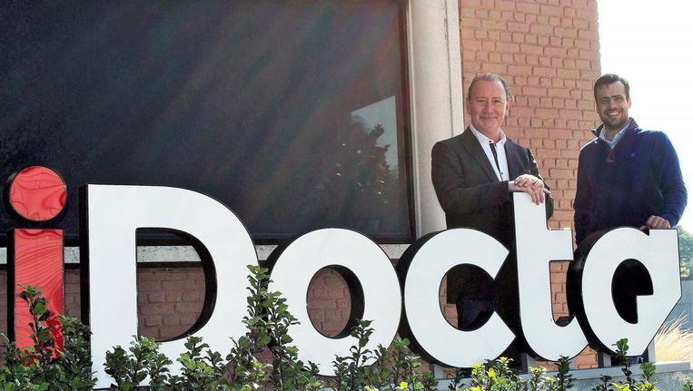 Wim Rogé en Michel Vandermarliere, de twee zaakvoerders van iDocta.