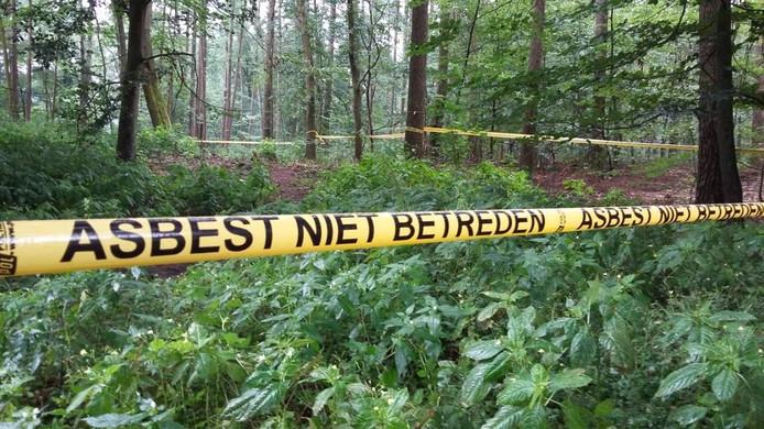 Het afgezette gebied in het Orderbos. Foto Matthijs Oppenhuizen