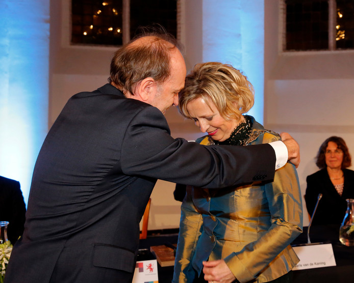 De installatie van Annemiek Jetten als burgemeester van Vlaardingen in 2017.