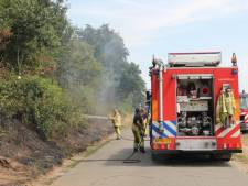 Boswal bij Deventer staat in brand