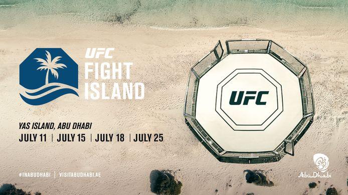 Het aankondigingsaffiche van Fight Island