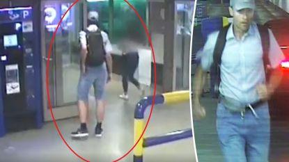 Politie zoekt man die jonge vrouw betastte in Brusselse parking: beelden tonen hoe hij toeslaat en vlucht