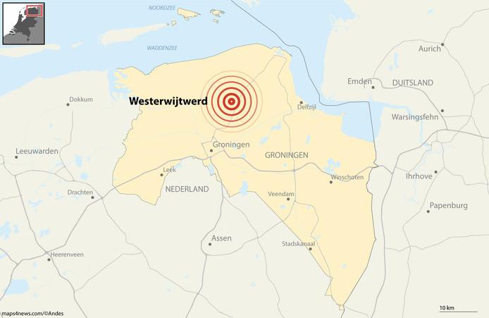 Aardbeving met kracht 3.4 in Westerwijtwerd