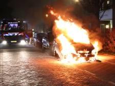 Auto gaat in vlammen op aan Rijnweg in Monster