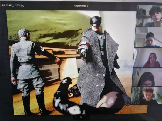 Koen Bemmelmans bouwde voor zijn filmpje zijn 'Star Wars'-poppen om tot Duitse soldaten.