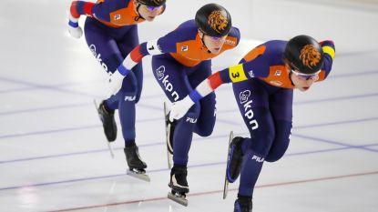 Belgische vrouwen eindigen als laatste in achtervolging op EK schaatsen, Nederland wint