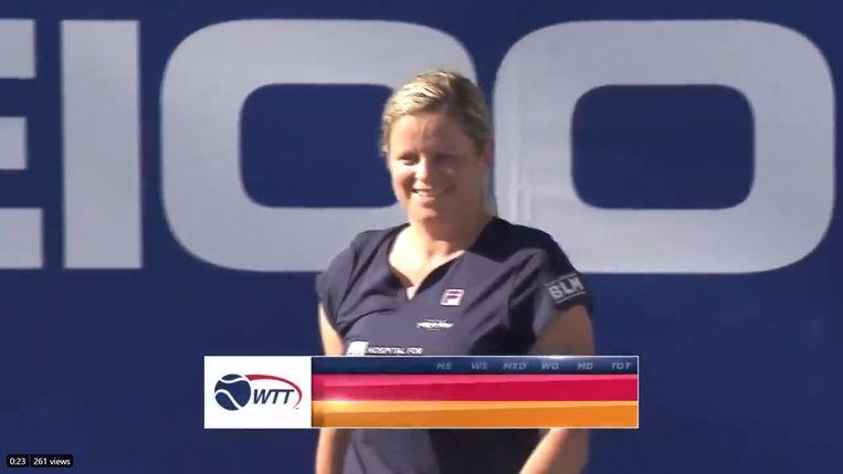 Kim Clijsters op de World Team Tennis.