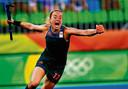 Maartje Paumen juicht tijdens de finale van de Olympische Spelen in 2016.