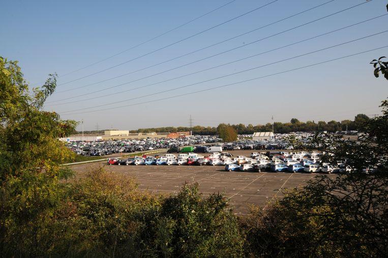 Een deel van de 27 ha grote site doet al jaren dienst als parking (archieffoto).