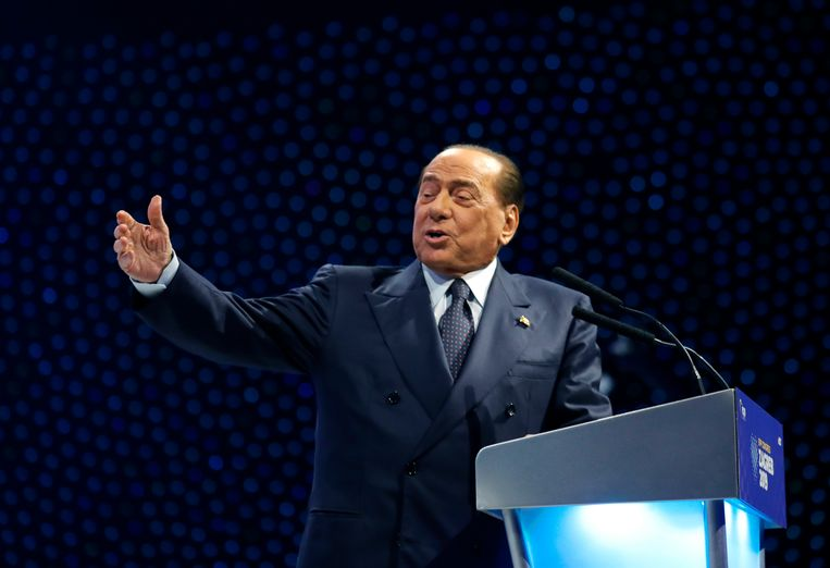 De voormalige premier van Italië, Silvio Berlusconi.