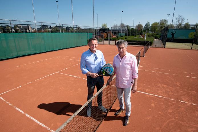 Henk Dibbets (links) en Albert ter Burg.