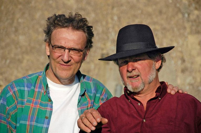 Huig en Huib (met hoed) Beeld Privé-archief