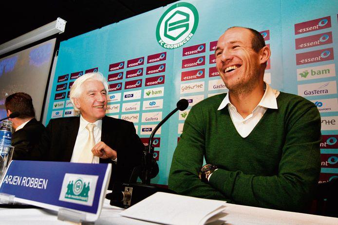 Arjen Robben werd in 2013 tot ambassadeur van FC Groningen benoemd (archieffoto).