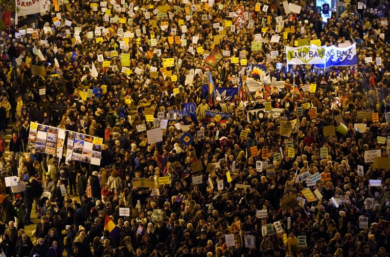 Madrid, vrijdagavond. Beeld REUTERS